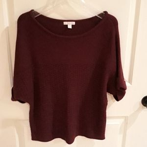 Pullover shirt sleeve sweater